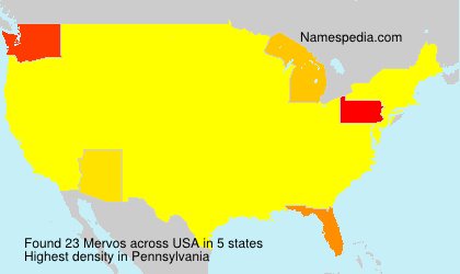 Surname Mervos in USA