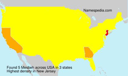 Surname Mesbeh in USA