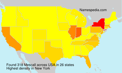 Familiennamen Mescall - USA