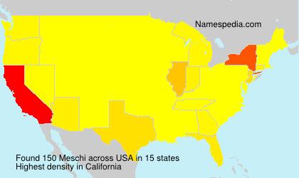 Familiennamen Meschi - USA