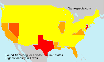 Surname Meseguer in USA