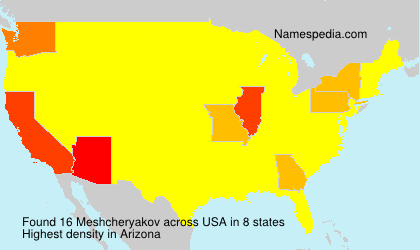 Surname Meshcheryakov in USA