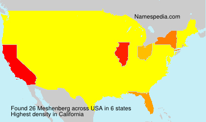 Surname Meshenberg in USA
