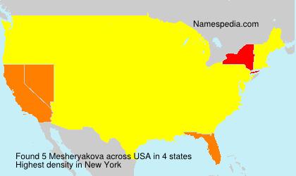 Surname Mesheryakova in USA