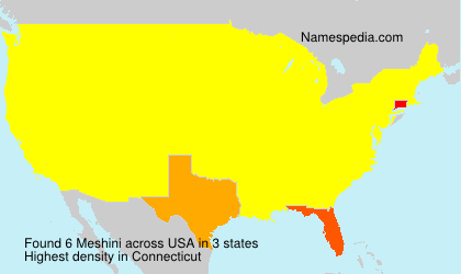 Surname Meshini in USA