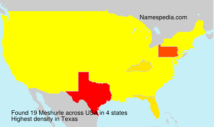 Surname Meshurle in USA