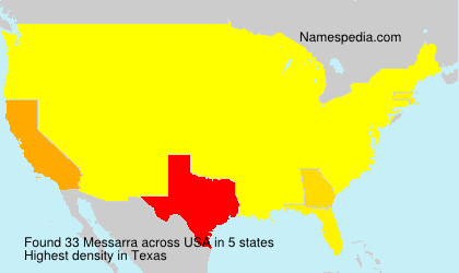 Surname Messarra in USA