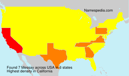 Surname Messay in USA