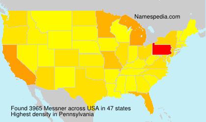 Familiennamen Messner - USA