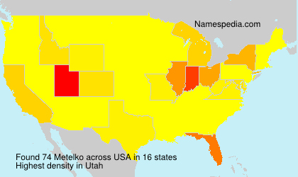 Surname Metelko in USA