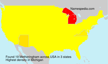 Surname Metheringham in USA