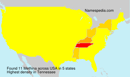 Familiennamen Methina - USA