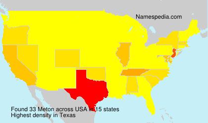 Surname Meton in USA