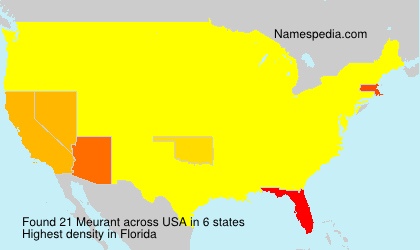 Surname Meurant in USA