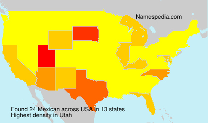 Surname Mexican in USA