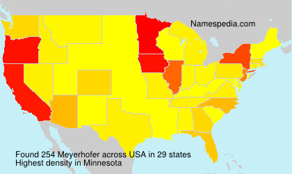 Surname Meyerhofer in USA