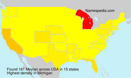 Surname Meylan in USA