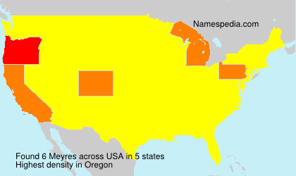 Familiennamen Meyres - USA