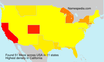 Surname Meze in USA