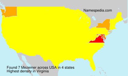 Surname Mezemer in USA