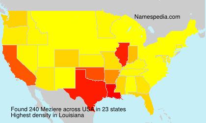 Familiennamen Meziere - USA