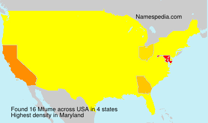 Surname Mfume in USA