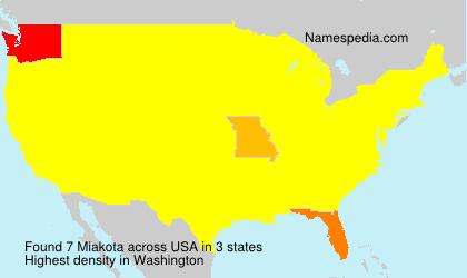 Familiennamen Miakota - USA