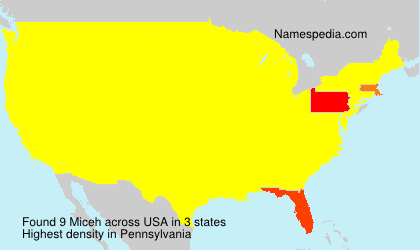 Familiennamen Miceh - USA