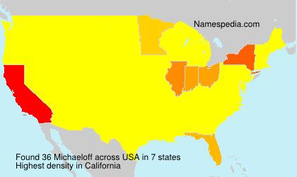 Surname Michaeloff in USA