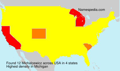 Surname Michalcewicz in USA