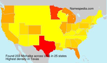 Familiennamen Michalke - USA
