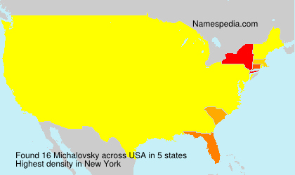 Surname Michalovsky in USA