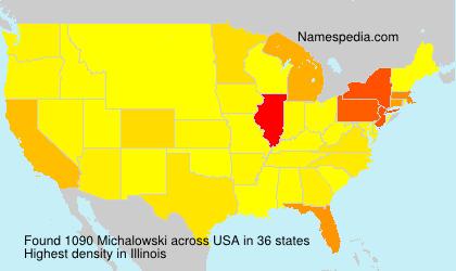 Familiennamen Michalowski - USA