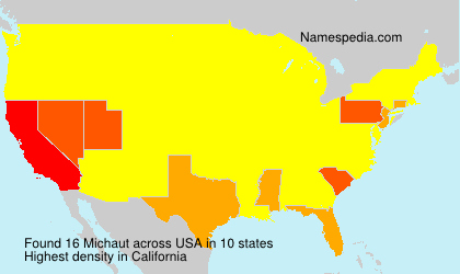 Surname Michaut in USA
