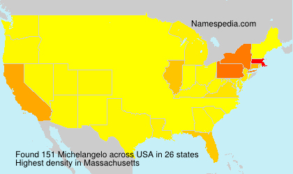 Surname Michelangelo in USA