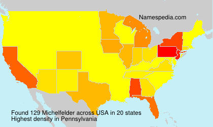 Surname Michelfelder in USA