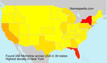 Familiennamen Micheline - USA
