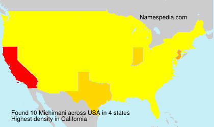 Surname Michimani in USA