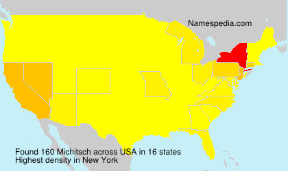 Surname Michitsch in USA