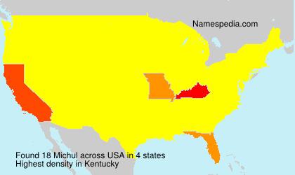 Familiennamen Michul - USA