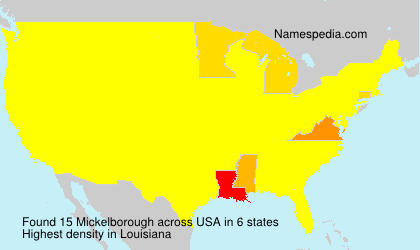 Surname Mickelborough in USA