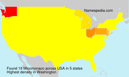 Surname Micomonaco in USA