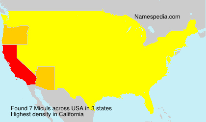 Surname Miculs in USA