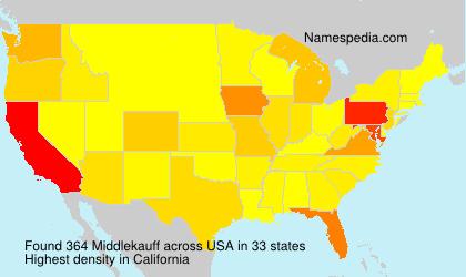 Familiennamen Middlekauff - USA