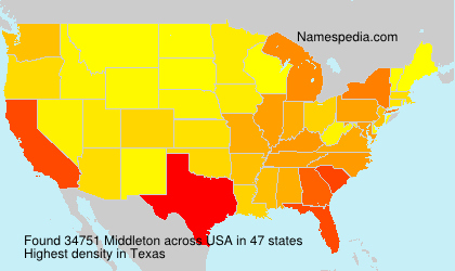 Surname Middleton in USA