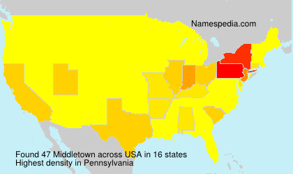 Surname Middletown in USA