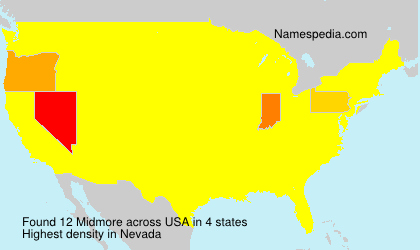 Surname Midmore in USA