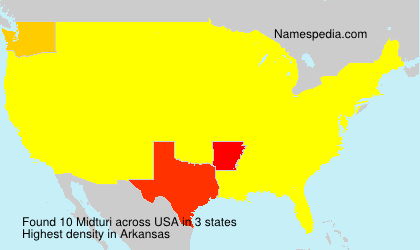 Surname Midturi in USA