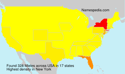 Surname Mieles in USA