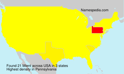 Surname Mient in USA